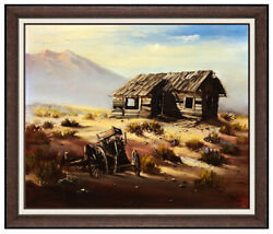 Buck Mccain Original Oil On Canvas Painting Signed Western Mountain Landscape
