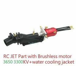 26mm Rc Boat Boot Jet Part With 3650 3300kv Motor + Water Cooling Jacket Test