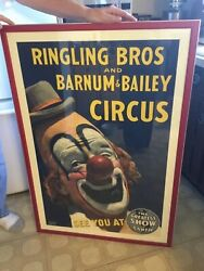 Ringling Bros Barnum And Bailey Circus Poster '43 Framed Maxwell Frederic Coplan