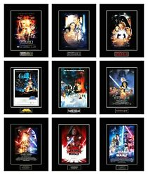 Star Wars 8 X 10 Episode 1-9 Poster Photos - All 11 X 14 Black Matted