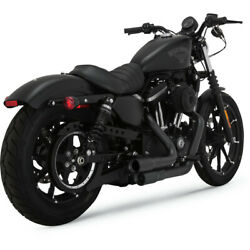 Vance And Hines Black Mini Grenades 22 Exhaust For 2004-19 Harley Sportster