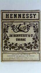 Jas. Hennessy And Co. Cognac Bottle Label L6