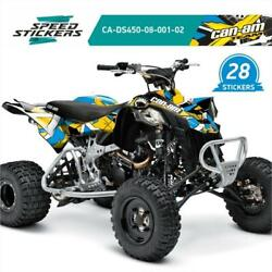 Can-am Ds 450 All Years Graphics Kit With 27 Stickers + Free Gift