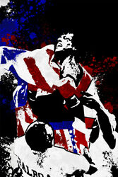 Rocky Balboa USA Flag Champ Boxer Art Wall Indoor Room Poster POSTER 24x36