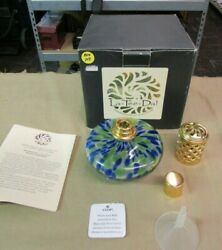 Lamp La-tee-da Effusion Catalytic Oil Fragrance Lamp Blue And Green Gold Crown