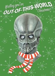 Alien Monster Mask Holiday Christmas Greeting Card Distortions Unlimited Creeton