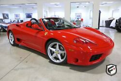 2003 Ferrari 360 2dr Convertible Spider 2003 FERRARI 360 SPIDER - GATED 6-SPEED MANUAL 2958 MILES 2 OWNER PRISTINE!!
