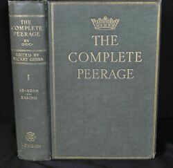The Complete Peerage Volumes 1-14 / 1910 2nd Edition