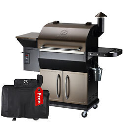 Z Grills Wood Pellet Grill Bbq Smoker Digital Control With Cover Zpg-1000d