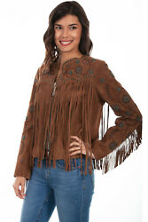 Scully Women's Western Suede And Beaded Jacket L1035