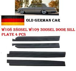 For Mercedes W108 Door Sill Plate Rubber Cover Trim Restoration Parts Set Of 4