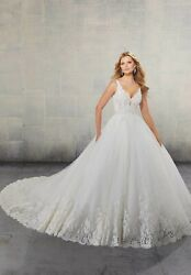 Brand New Mori Lee Surim V-neck Cathedral Train Gown Style 2146