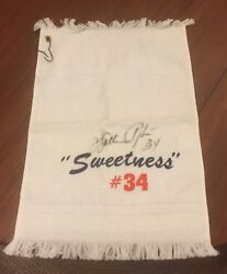 Walter Payton Sweetness Towel Signed / Autograph Chicago Bears Nfl Football