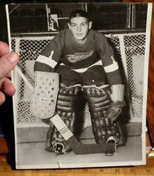 Rare 1950's Goalie Autograph Terry Sawchuk Signed 8x10 Original Red Wings Photo