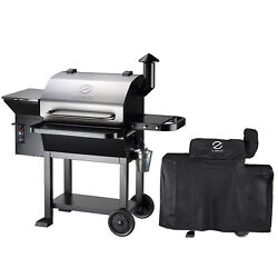 Z Grills Zpg-10002e Wood Pellet Grill Bbq Smoker Digital Control With Cover