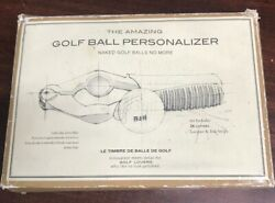 The Amazing Golf Ball Personalizer Restoration Hardware Monogramming Tool A13-9