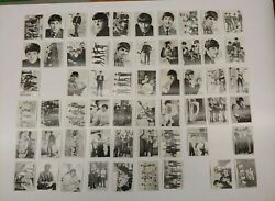 Vintage Topps Tcg The Beatles Band Bandw Photo Trading Cards Lot Of 57 Of 60