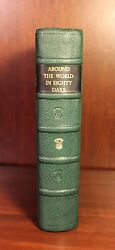 Jules Verne Around The World In Eighty Days 1873 1st Edition Leather Rare