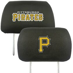 Pittsburgh Pirates 2-pack Auto Car Truck Embroidered Headrest Covers