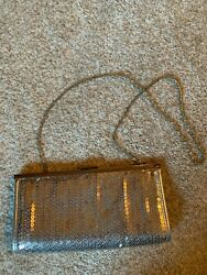 Silver Sequenced Clutch Wedding Prom Bag Purse $9.99