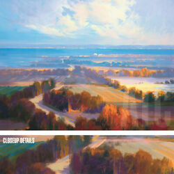 47wx35h Georgian Bay By Athanase Pell - Arial Blue Skies - Choices Of Canvas