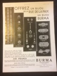 Antique Advertising- Jewellery Burma - French Advertising 0042
