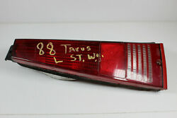 1988 Ford Taurus Left Taillight Cover Lens Only Has Crack - Repairable