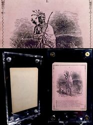 C1850 Antique Playing Cards Native American History Parlor Game Scarce Single