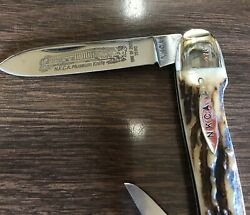 Kissing Crane Whittler's Knife 1980 Nkca Founders Edition Rob Klaas 276l Stag