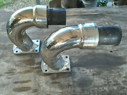 Used Imco Power Flow Stainless Steel Custom 8.5 Exhaust Pulled Off 502 Mpi