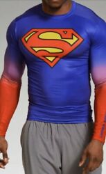 Under Armour Superman Long Sleeve Compression Shirt Xl Rare. Discontinued. Nwt