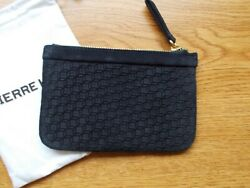 Pierre Hardy Dark Blue Suede Cube Design Pouch Clutch Case Card Holder!!!!! $119.00