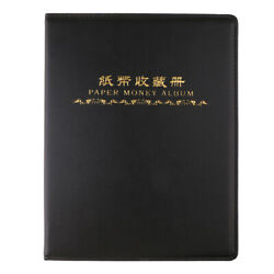 Paper Money Album 10 Sheets 60 Pockets Banknote Currency Storage Holder Books