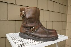 Ugg Rockville Shearling Lined Short Ankle Boot Brown Leather 11 44.5 Bootie 5627 $81.24