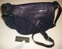 NWT WALTER BAKER LEATHER MESSENGER PURSE PLUM PURPLE SATCHEL BAG DESIGNER  $43.99