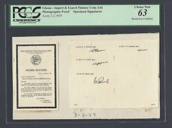 Ghana - Import And Export Finance Accra 3-3-1959 Photographic Proof Specimen Sg