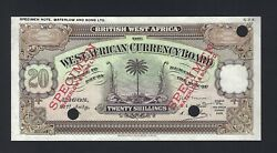 British West Africa 20 Shillings 21-7-1930 P8ct Color Trial Uncirculated