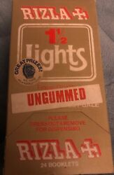 Extremely Rare Gumless Vintage Rizla 1 1/2 Ungummed Rolling Papers Box Of 24