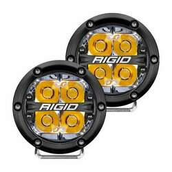 Rigid 360-series 4 Led Off-road Spot With Amber 36114