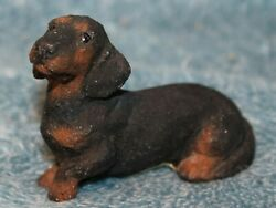 Dachshund Brown Black Figurine by Living Stone Inc 1997
