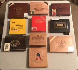 Lot Of 20 - Random Cigar Boxes - 10 Wooden And 10 Decorative Paper June Sale