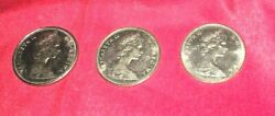 Collection Of 3 Canadian 1 Coins Nickel. Circulated Condition