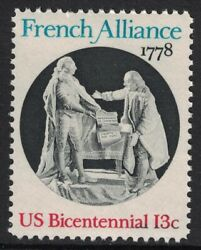 Scott 1753 French Alliance King Louis and Franklin MNH 13c 1978 unused mint $0.99
