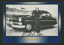 1991 Bill Blair Autographed Signed Officially Licensed Nascar Hq Trading Card