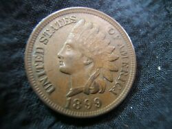 1899 Bronze Indian Head Cent Au Nice Selling Off Later Dates From Set