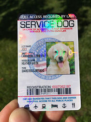 Service Dog Id Card Customized Holographic