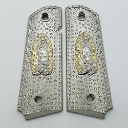Lady Of Guadalupe 1911 Grips Gold Pistol Grips Full Size Commander Ambi Zirconia