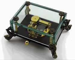 Alluring 18 Note Crystal Music Box With Detailed Dragon Feet - Over 400 Song