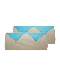 1956 Chevy Bel Air 4-door Coupe Bench Seat Cover Set In Turquoise And Beige