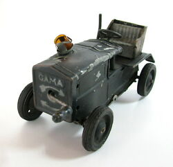 Early Rare Vintage Tin Toy German Tractor Gama Germany 1930and039s Wind Up Clockwork